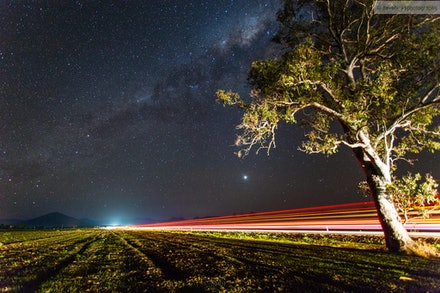 Stars and Light Trails 1, Scenic Rim, QLD - I went out for an overnight trip 02-03 Oct 13 to the Scenic Rim to specifically get some night shots away from...
