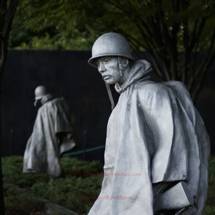 Korean War Memorial - early morning - Washington DC, Photographed Oct 2011