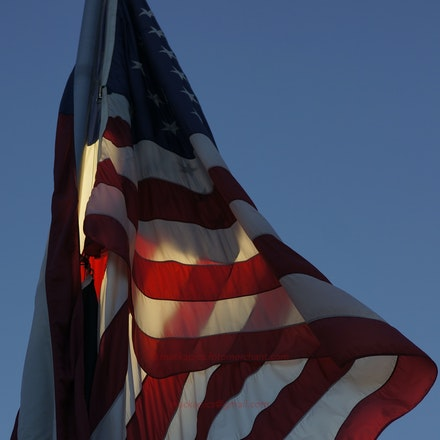Old Glory at dawn - Korean War Memorial, Washington DC