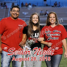 Crown Point Senior Night - 8/28/15 - View 9 images from Crown Point Senior Night.