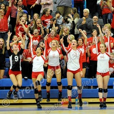 Crown Point vs. Lake Central (IHSAA Regional) - 10/27/15 - Crown Point defeated Lake Central in three sets in IHSAA Regional Volleyball action at Lake...
