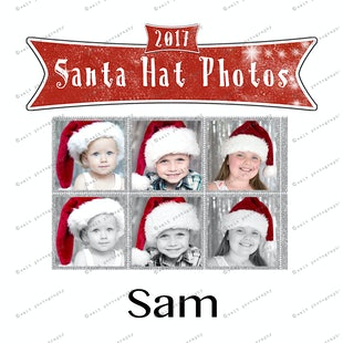 Santa Hat Photos - Sam