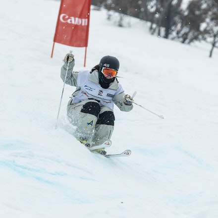 140819_Moguls_5866 - Athlete competing during day 1 of the Canon Australian Freestyle Mogul Championships at Perisher, NSW (Australia) on August 19 2014....