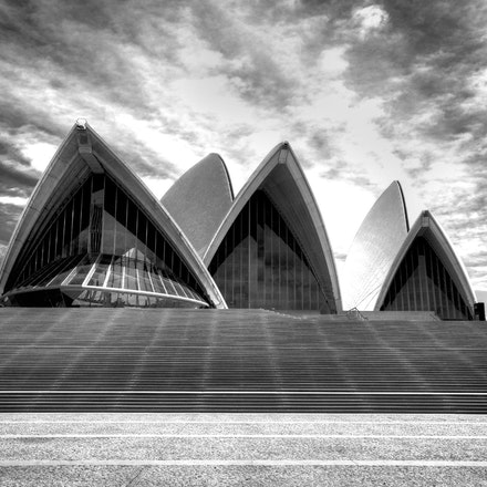 Sydney Opera House in Black and White - Copyright © 2015 Melissa Fiene Photography. All rights reserved. All images created by Melissa Fiene are © Melissa...