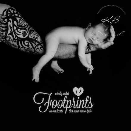 In safe arms - Beautiful Newborn and Maternity portraits by Logan City photographer Kerry Bergman in her Edens Landing studio.