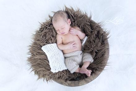 Newborn | Studio - Beautiful Newborn and Maternity portraits by Logan City photographer Kerry Bergman in her Edens Landing studio.