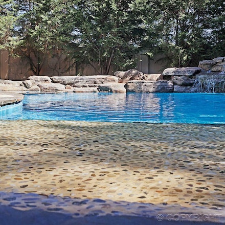 Natural stone- swimming pool