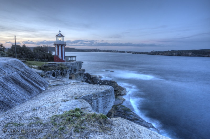 South-head lighthouse, Sydney Harbour National Park, Australia - An evening shot of the lighthouse at Sydney Harbour National Park. A high dynamic range...