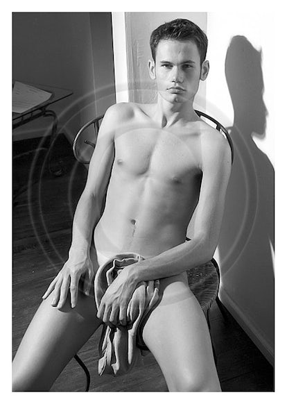 SK21503 - Signed Male Semi-Nude Photo Art by Jayce Mirada