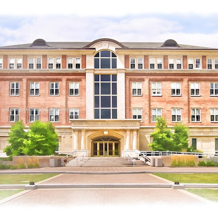 Jesse Philips Humanities Center, University of Dayton_Digital.Watercolor_3624_3386 - Photos by Campus Photos USA. (Digital Watercolor Effect) The Jesse...