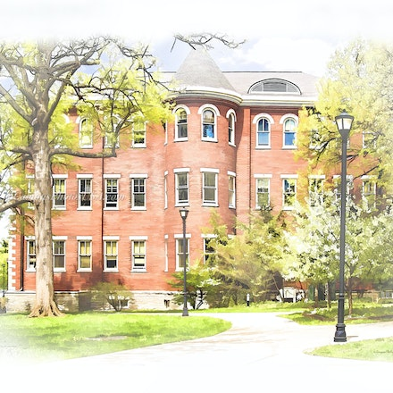 Miller Hall, University of Kentucky/Digital Watercolor_2436.0785 - Photo by Campus Photos USA. Miller Hall, located on the college campus of the University...