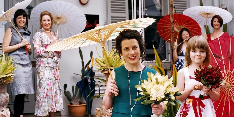 Siobhan & Nicks Wedding Colourful Umbrellas 2 X 1