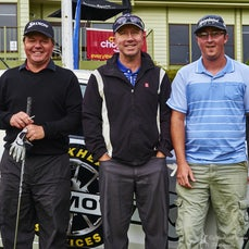 Legends Pro Am 2015 Morning Tee Hit Off - Each group is photographed on one of the tees