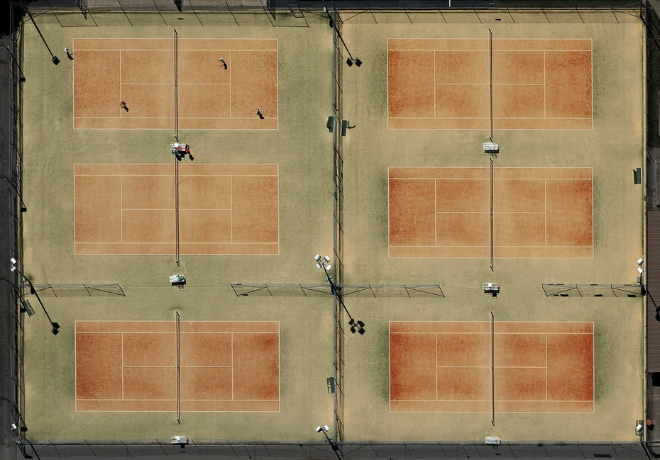 G Comfort Commercial 03 low res - Aerial Photo, Tennis Courts, Queabeyan, NSW, 17th December, 2014