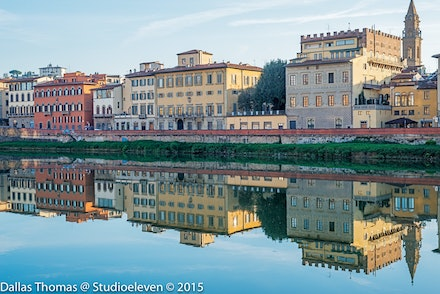 Reflections on the Arno - 3433-Edit