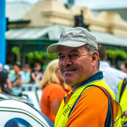 2014 Graham Watson at Tour Down Under - Famous cycling photograher Graham Watson