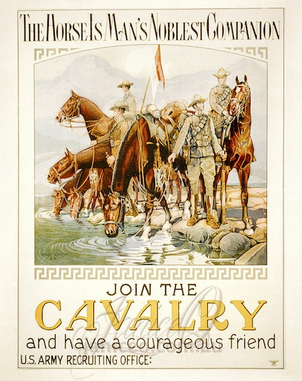 US Cavalry Poster - A reproduction of a Vintage Poster for the US Cavalry.