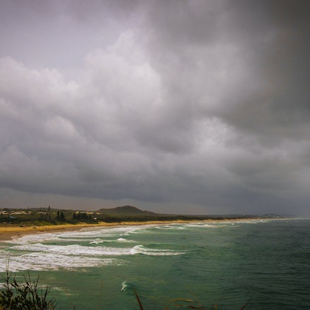 Coolum Engulfed - Coolum Beach about to be engulfed by a Queensland summer downpour