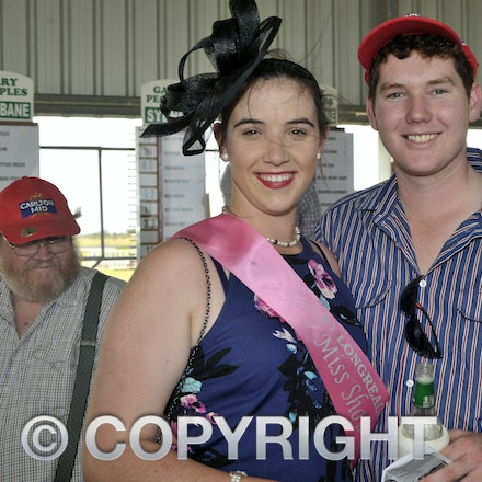 160312_SR29873 - Romanah Warry, Brendan Mobbs at the Longreach Races, Saturday March 12, 2016.  sr/Photo by Sam Rutherford