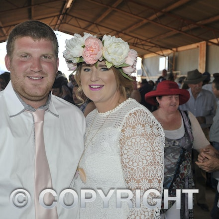 151003_SR22226 - Tony Fitzgerald and Bianca Broome at the Jundah Cup day races, Saturday October 3, 2015.  sr/Photo by Sam Rutherford