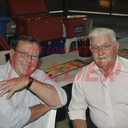 151107_SR24846 - Rob Chandler & , Pat Ogden at the Sportsmans Dinner in Barcaldine, Saturday November 7, 2015.  sr/Photo by Sam Rutherford.