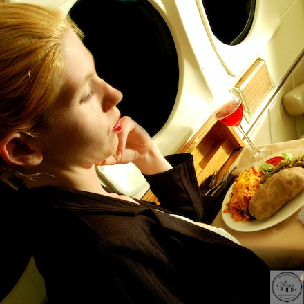 Chastity on a private jet