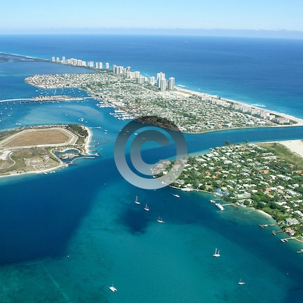 INLETS - AERIAL PHOTOS OF INLETS IN SOUTHEAST FLORIDA.