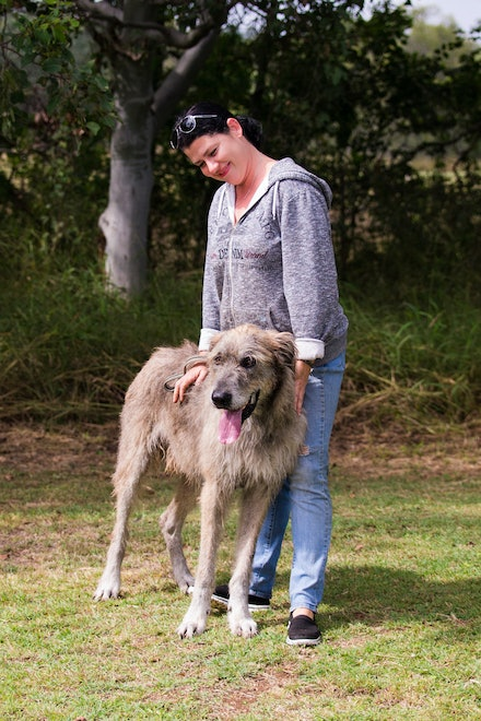 Natasja & Mordaunt - Mordaunt is an Irish Wolf Hound owned and loved by Natasja. 